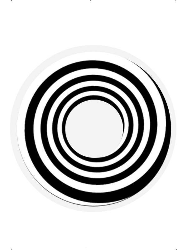 Unisex Black Spiral Contact Lense(Fancy Dress Accessory)