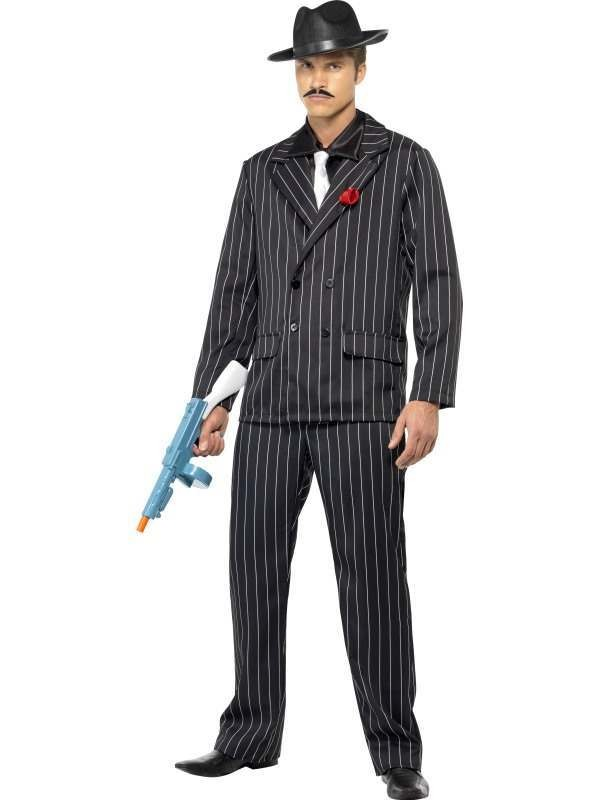 Zoot Suit Fancy Dress Costume Mens (1920S)
