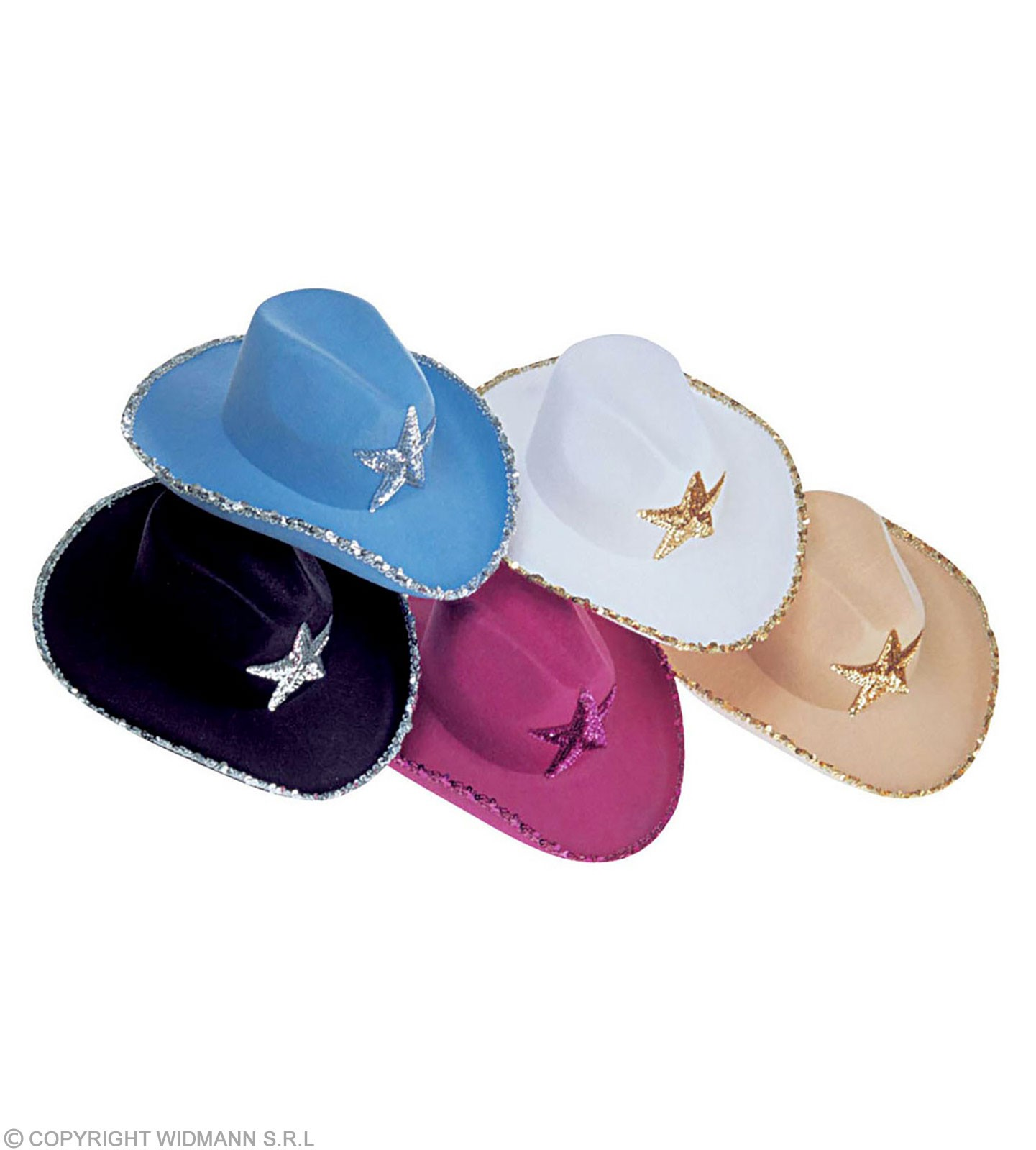 Cowboy Hat Sequin Decor Fashion Hat - Fancy Dress (Cowboys/Native Americans)