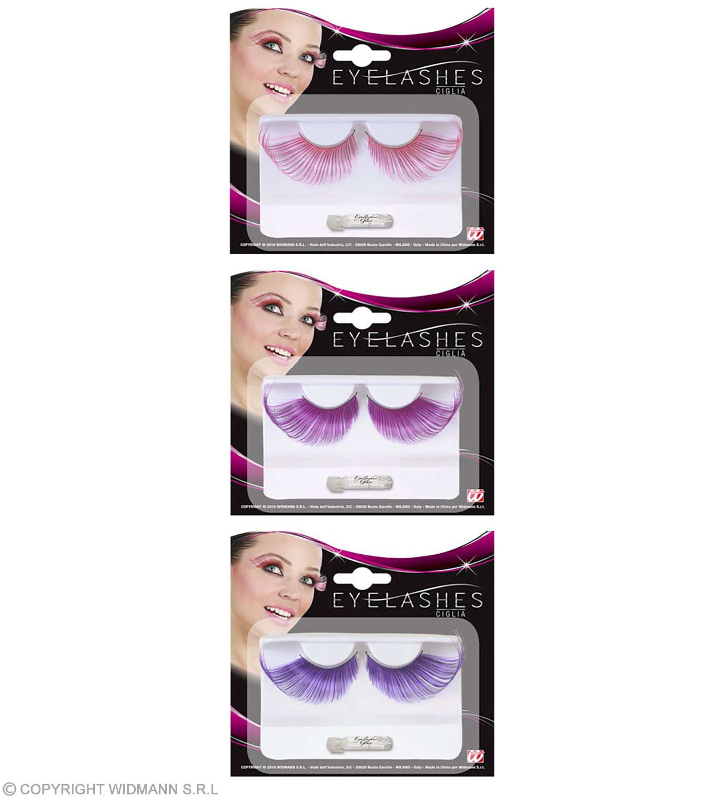 Eyelashes Extralong Meched Color - Fancy Dress