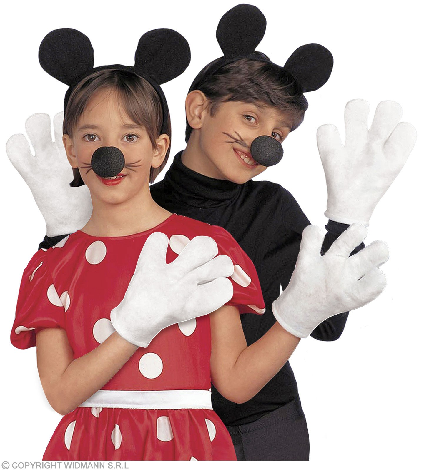 Mouse Set Ears Nose Gloves Child Unisex - Fancy Dress (Animals)