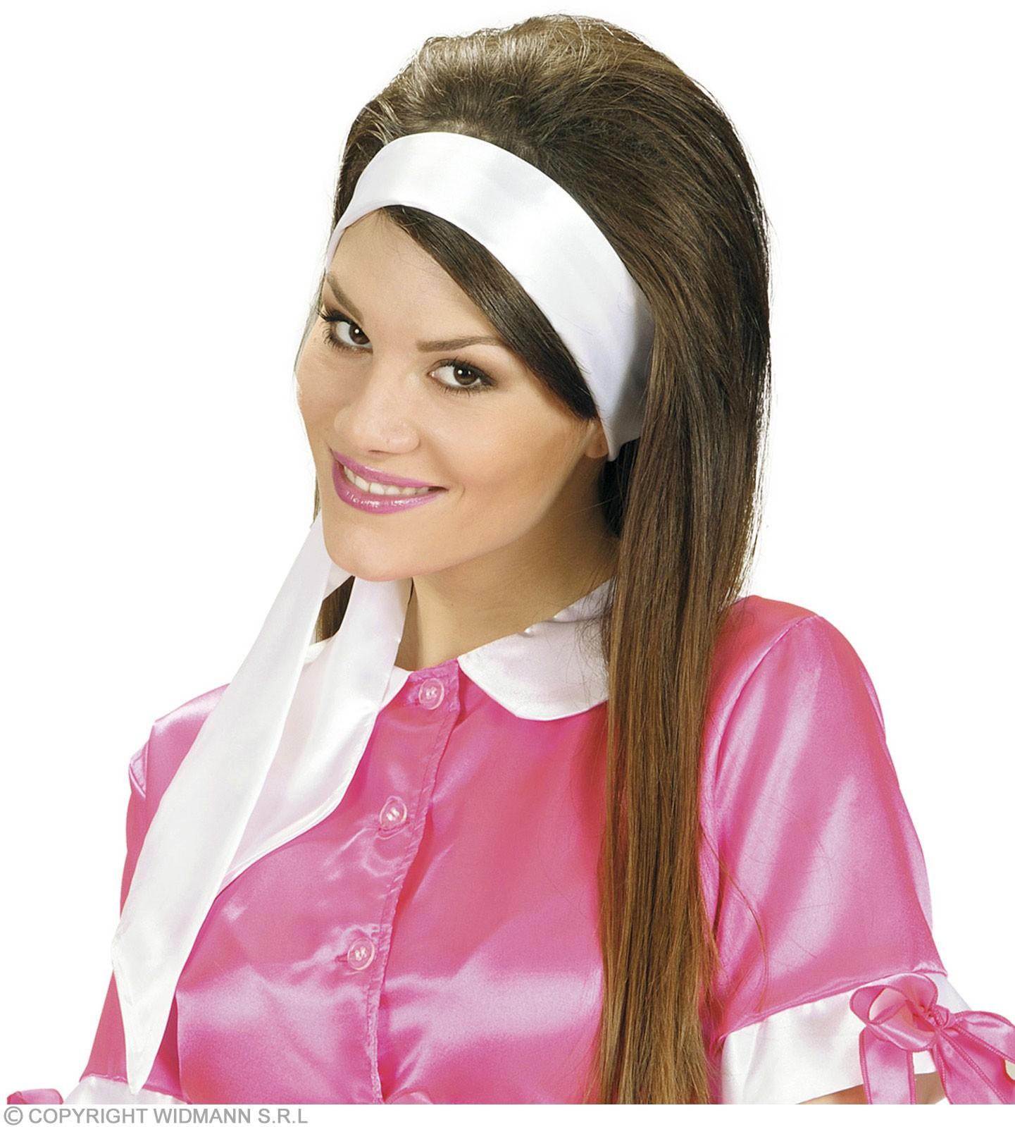 Satin White Sash/Headwrap - Fancy Dress