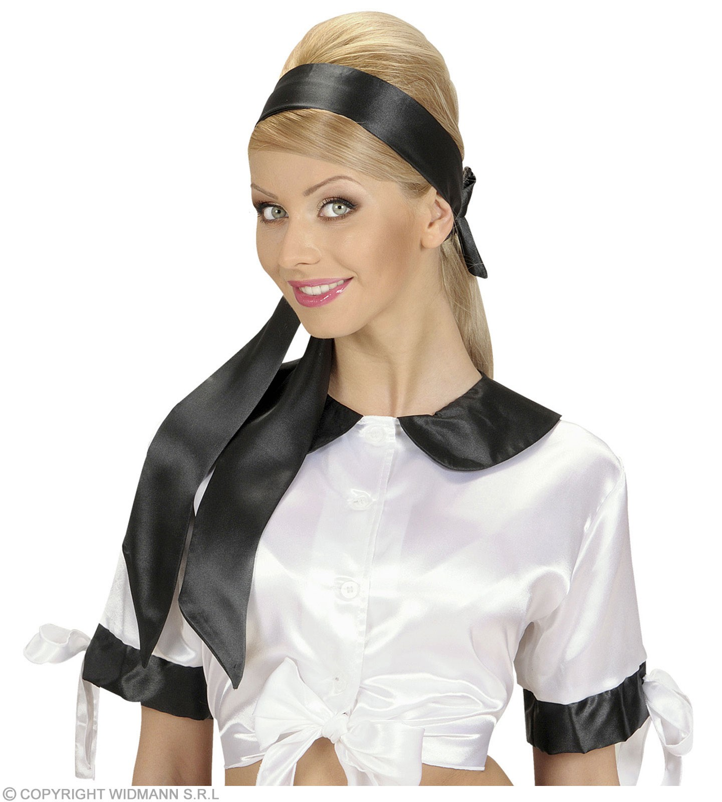 Satin Black Sash/Headwrap - Fancy Dress