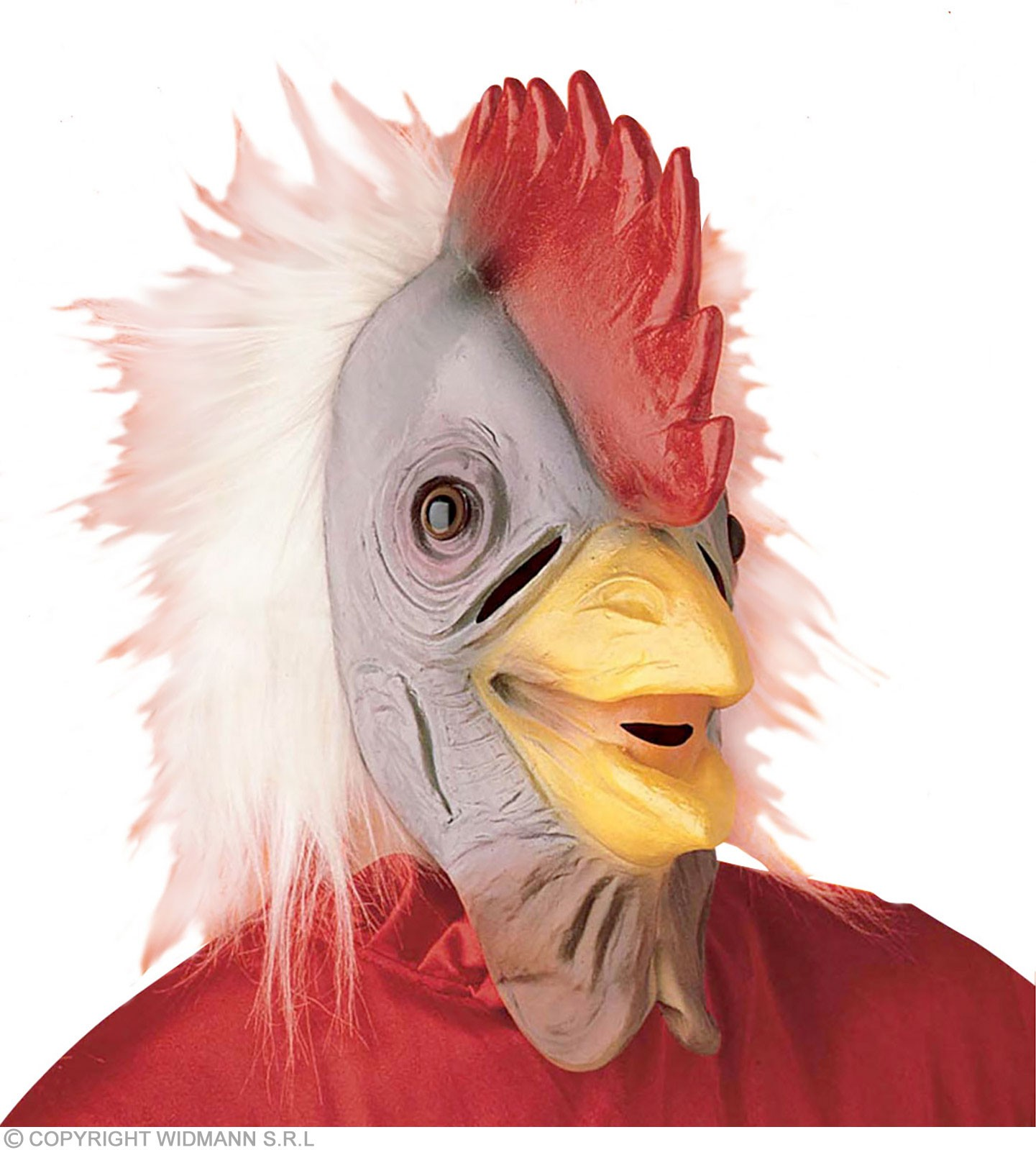 Cockeral Mask With Plush Hair - Fancy Dress (Animals)
