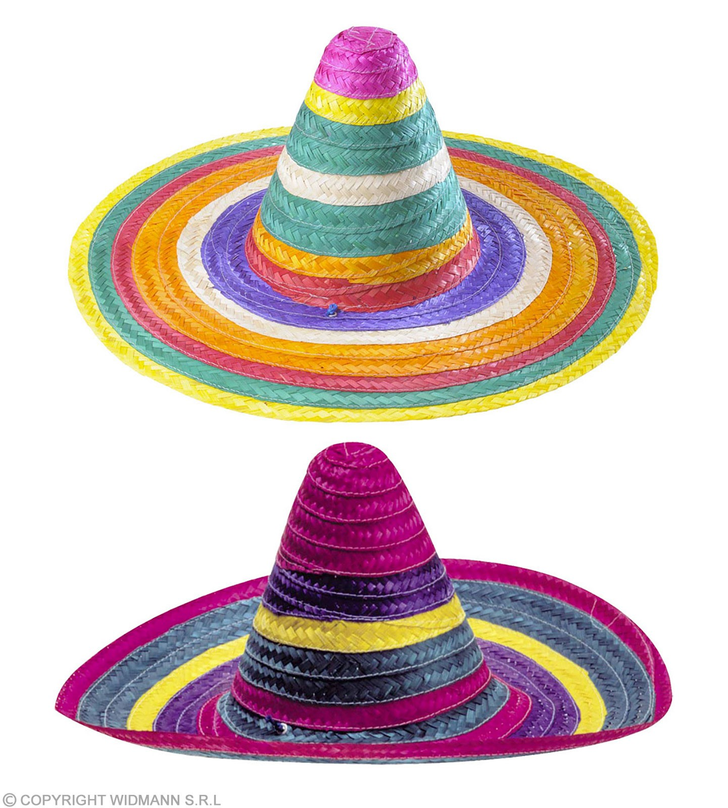 Multicolour Sombrero 50Cm - Fancy Dress