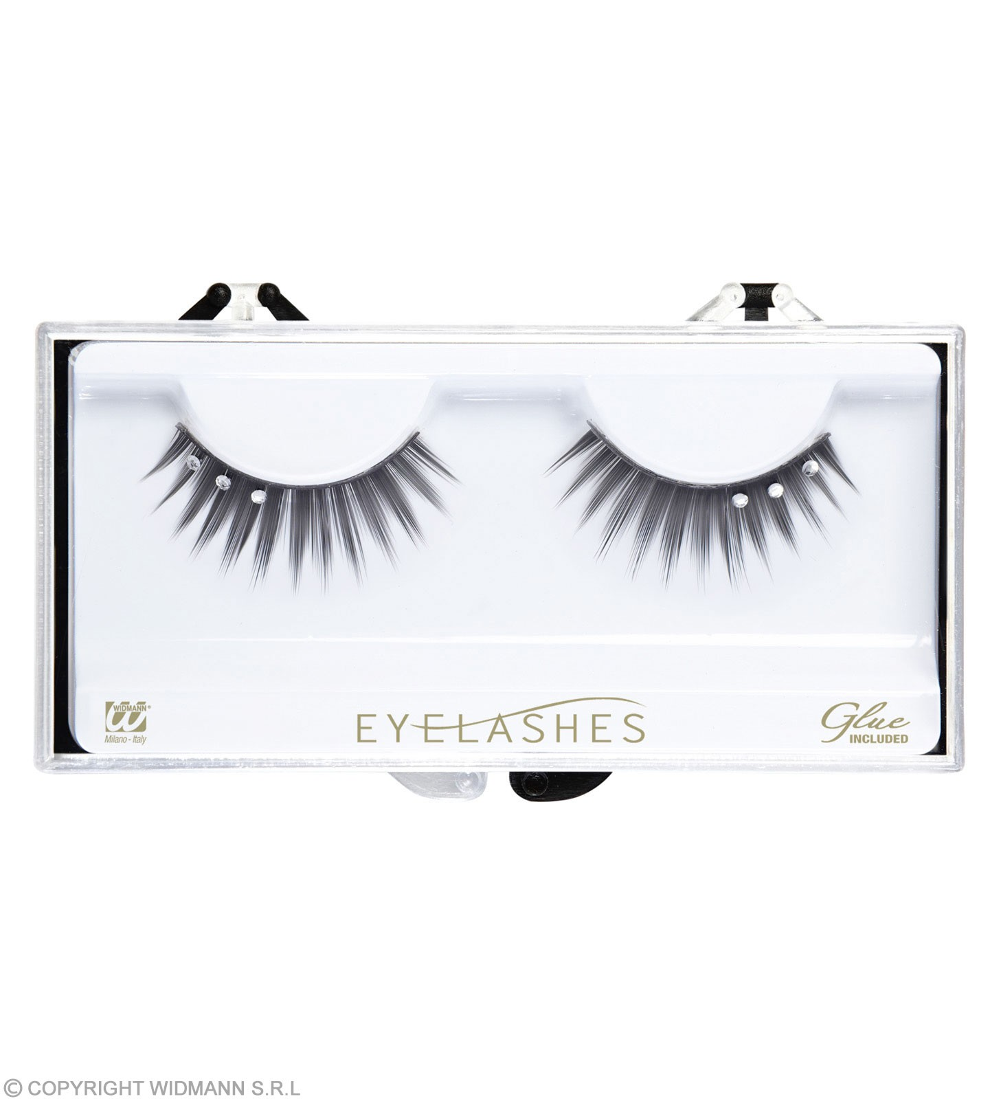 Eyelashes Black Strass 2Cols - Fancy Dress
