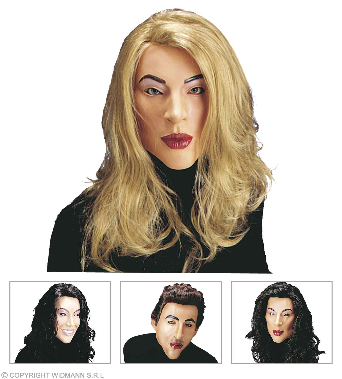 Playgirl Mask With Wig And Hair - Fancy Dress