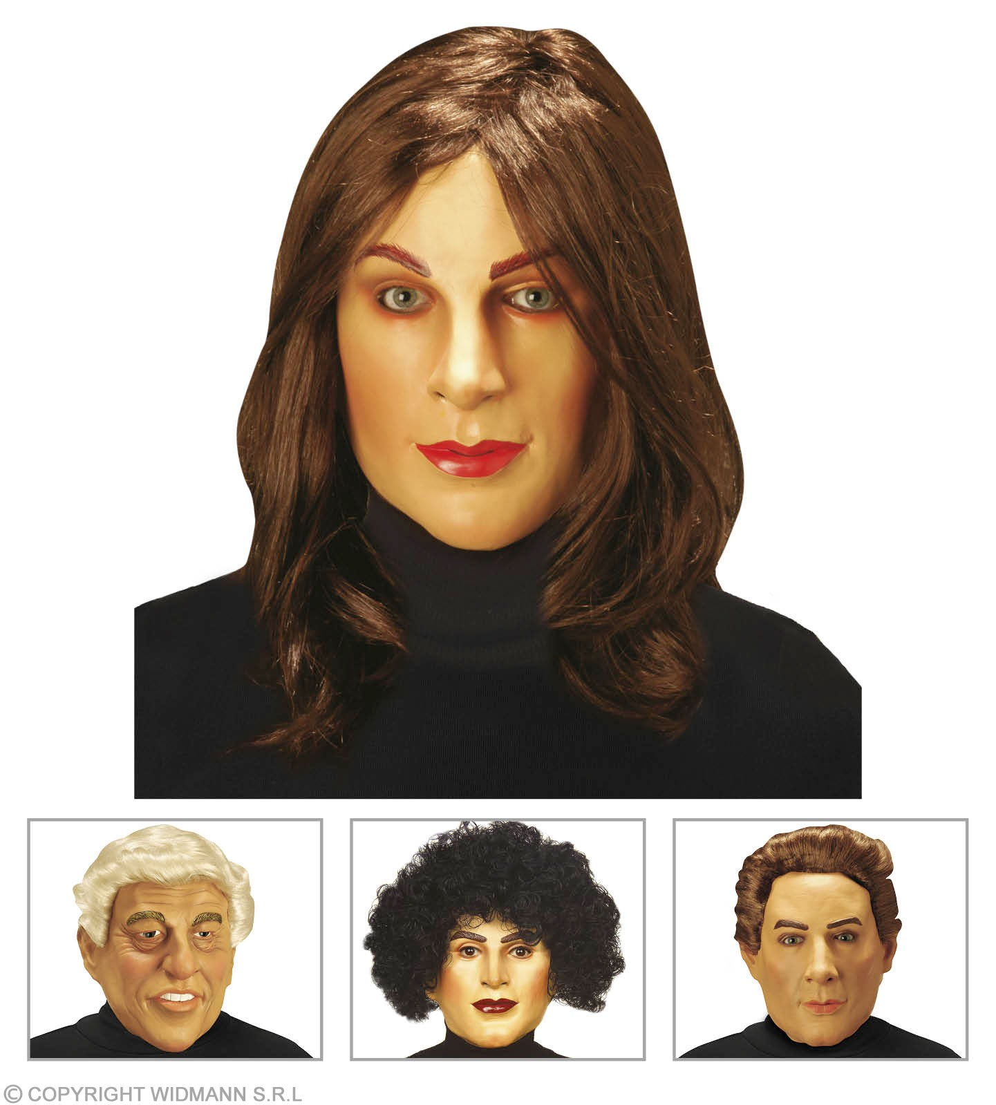 Friends Masks With Wig - 4 Styles Asstd. Fancy Dress