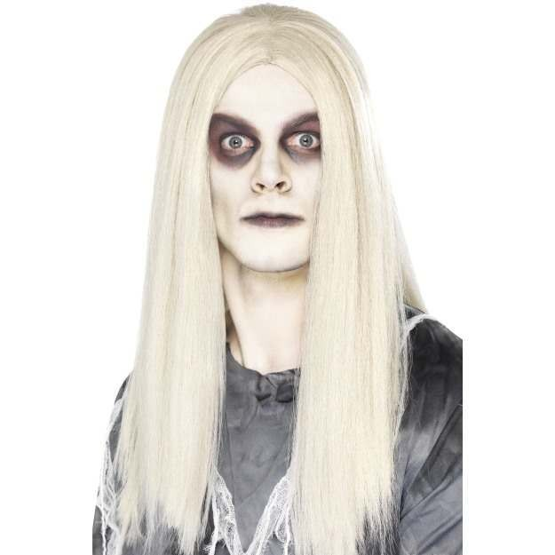 Mens Ghost Town Indian Wig Halloween Wigs - (Grey)