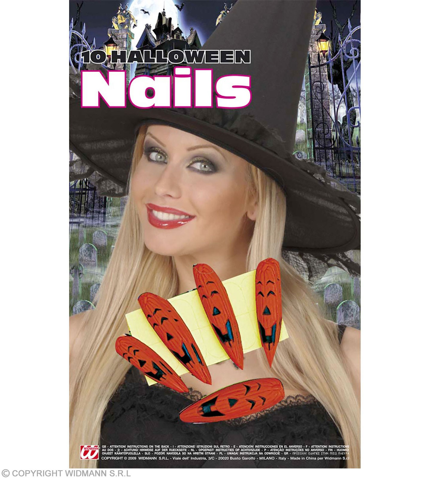 Halloween Nails W/Adhesive Tabs - Fancy Dress (Halloween)