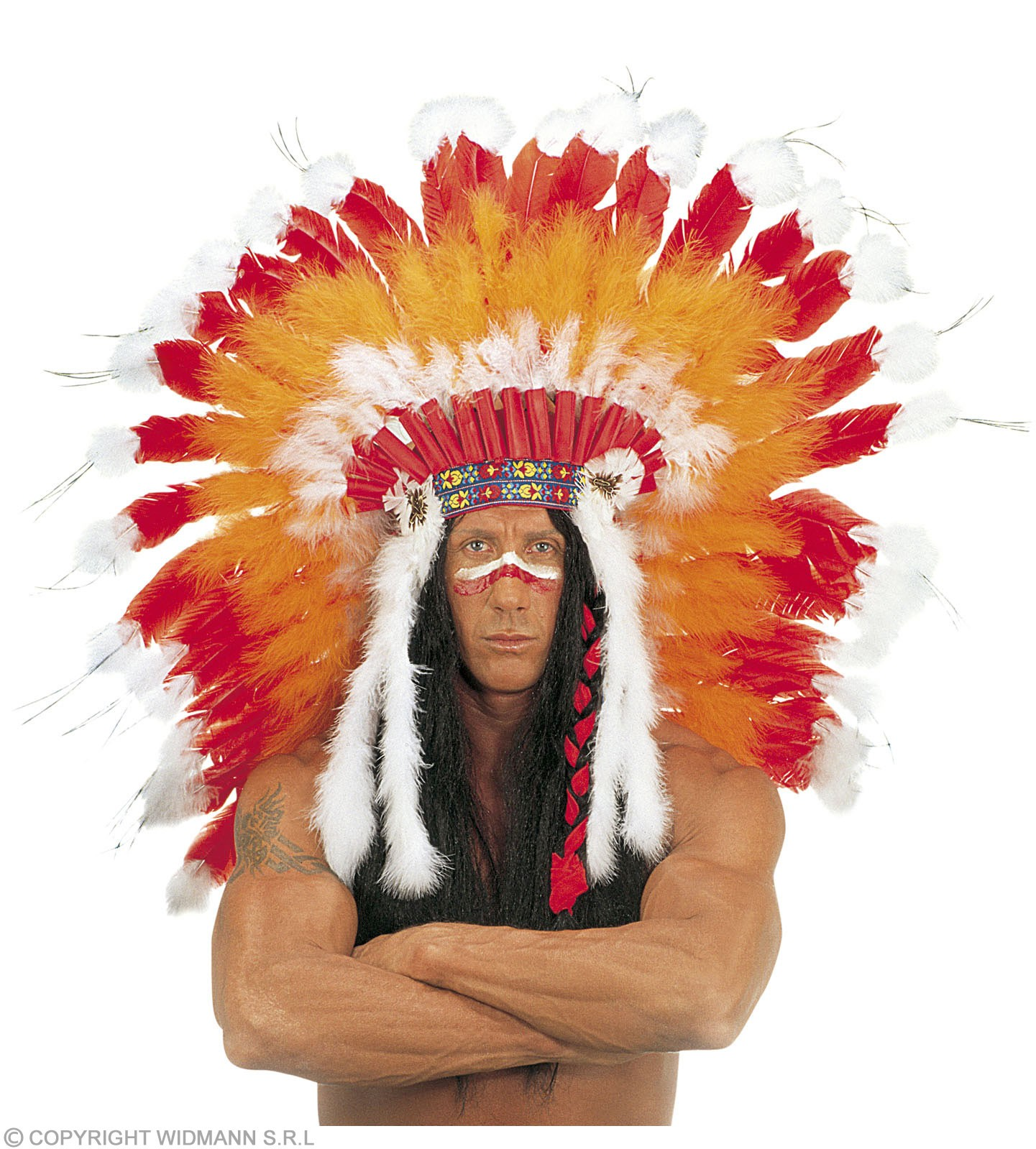 Native American Headdress Professional - Fancy Dress (Cowboys/Native Americans)