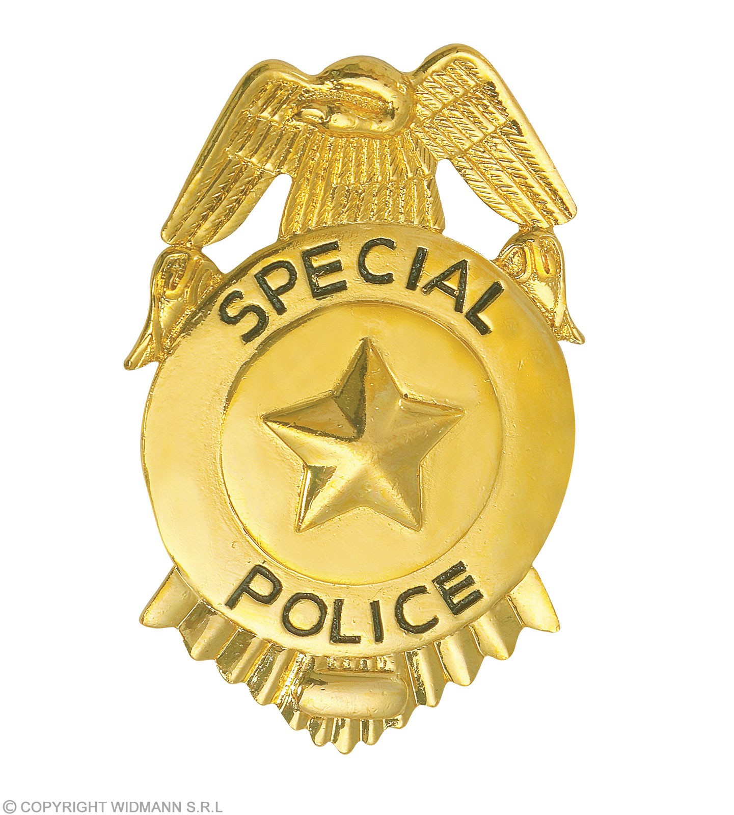 Fbi Badge Metal Gold - Fancy Dress