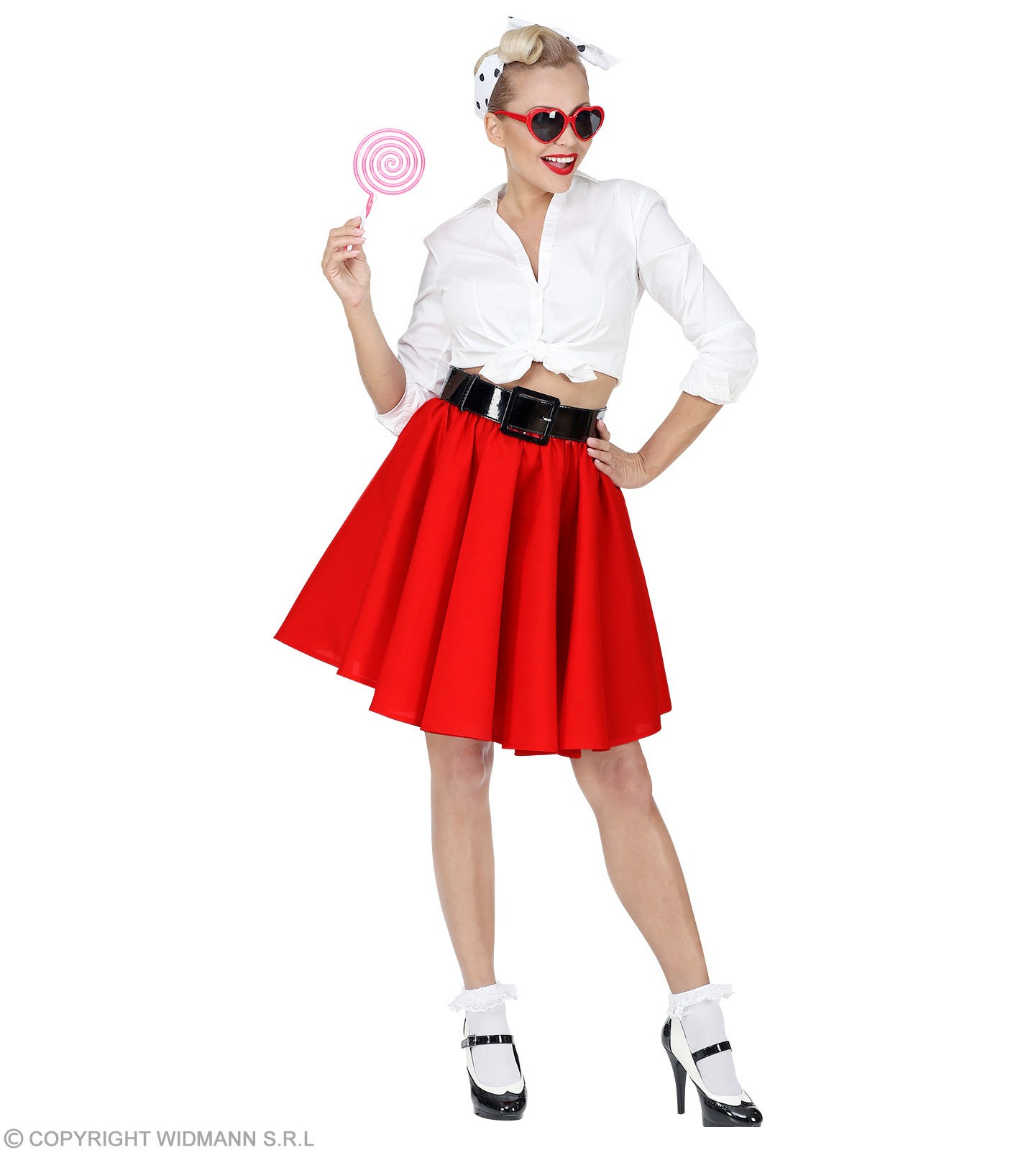 Rock N Roll Skirt Coloured Fancy Dress Costume
