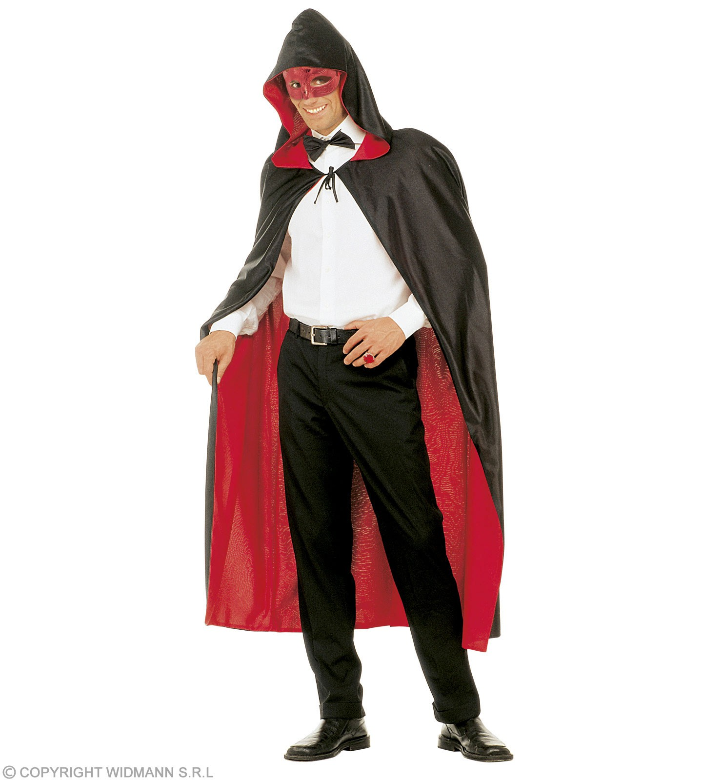 Hooded Cape Red/Black Reversible - Fancy Dress