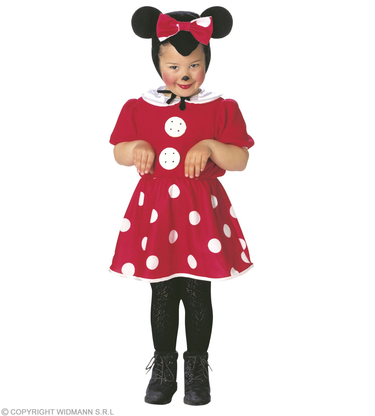 Mouse & Dress & Headpiece, Soft & Cute Costume Age 2-3