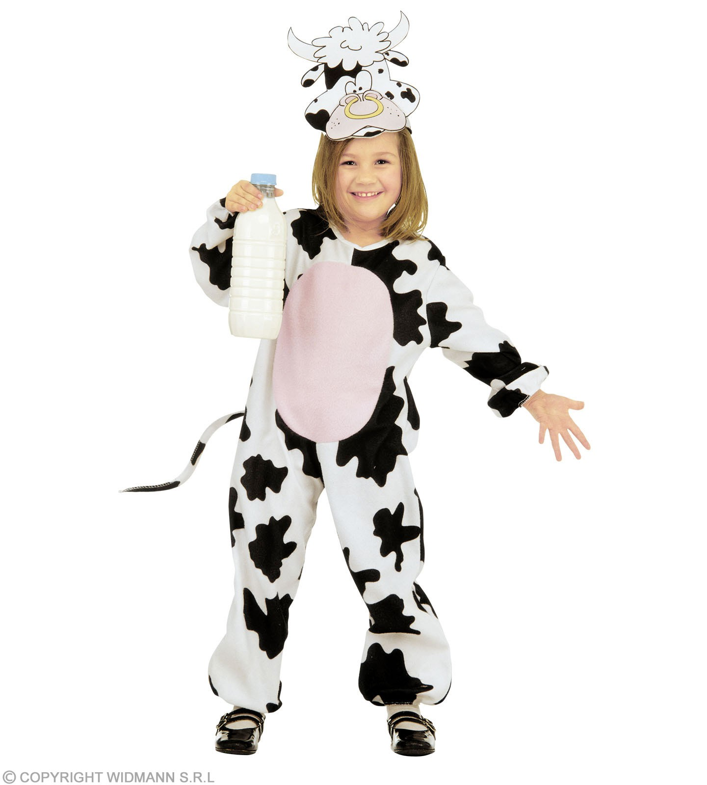 Cow - Jumpsuit, Headpiece - Mask Costume Age 2-3 (Animals)