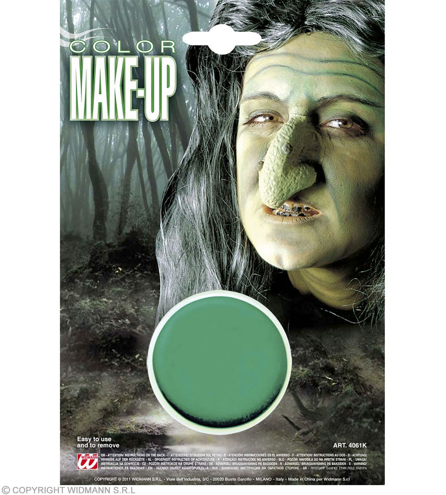 Makeup In Tray Green - Fancy Dress