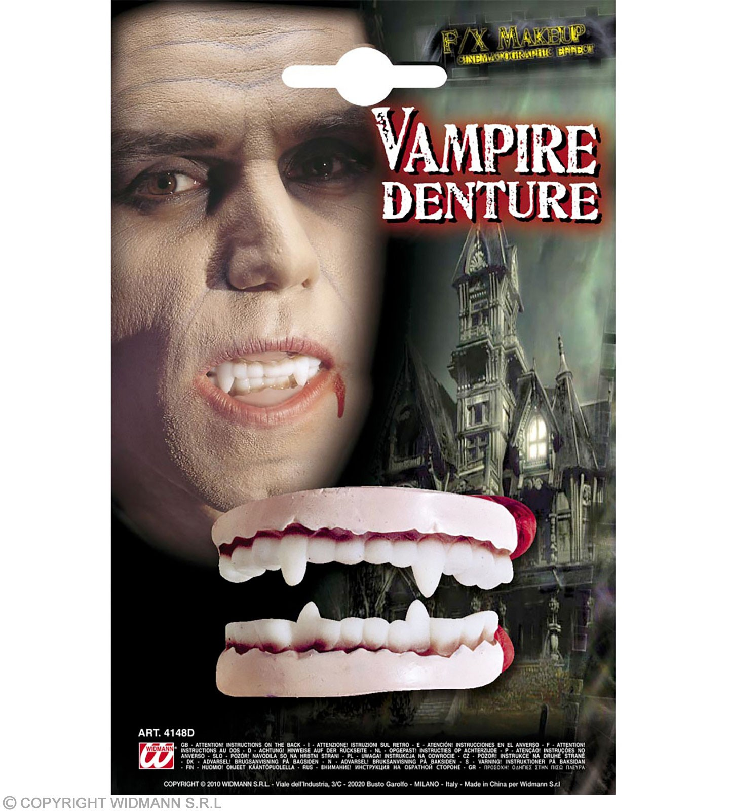 Vampire Dentures Deluxe - Fancy Dress (Halloween)