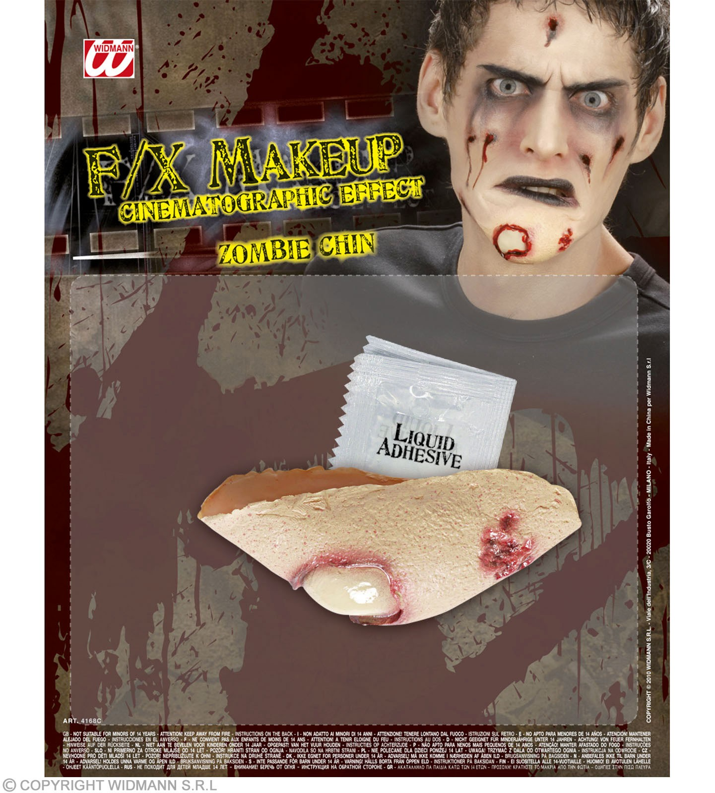 Sfx Zombie Chins - Fancy Dress (Halloween)