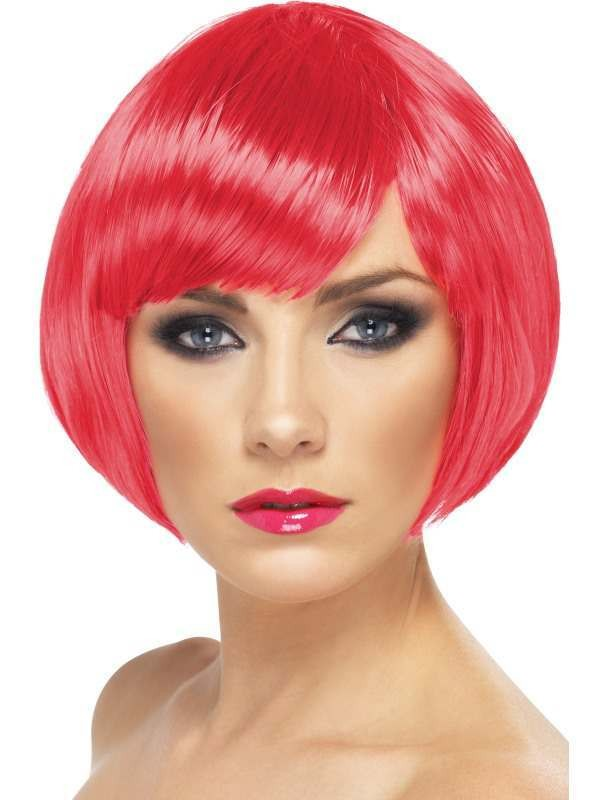 Babe Wig Fuchsia - Fancy Dress Ladies