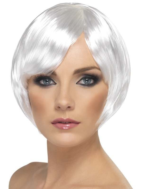 Babe Wig - Fancy Dress Ladies - White