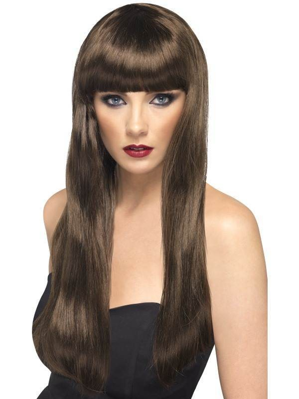 Beauty Wig Brown - Fancy Dress Ladies