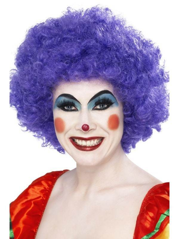 70S Funky Afro Purple Wig - Fancy Dress (1970S)