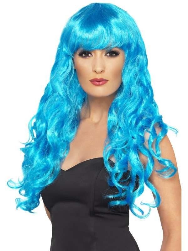 Siren Wig - Fancy Dress Ladies - Blue