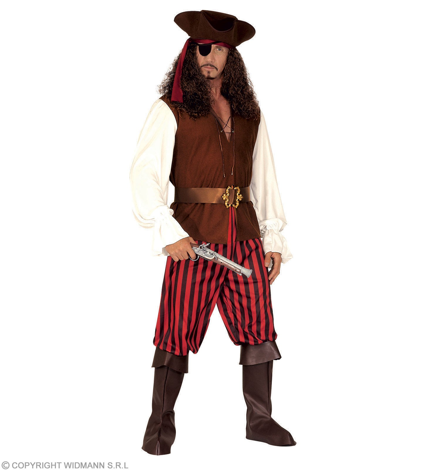 Xxl High Sea Pirate Shirt & Vest, Pants Mens 48-50 Xxl (Pirates)
