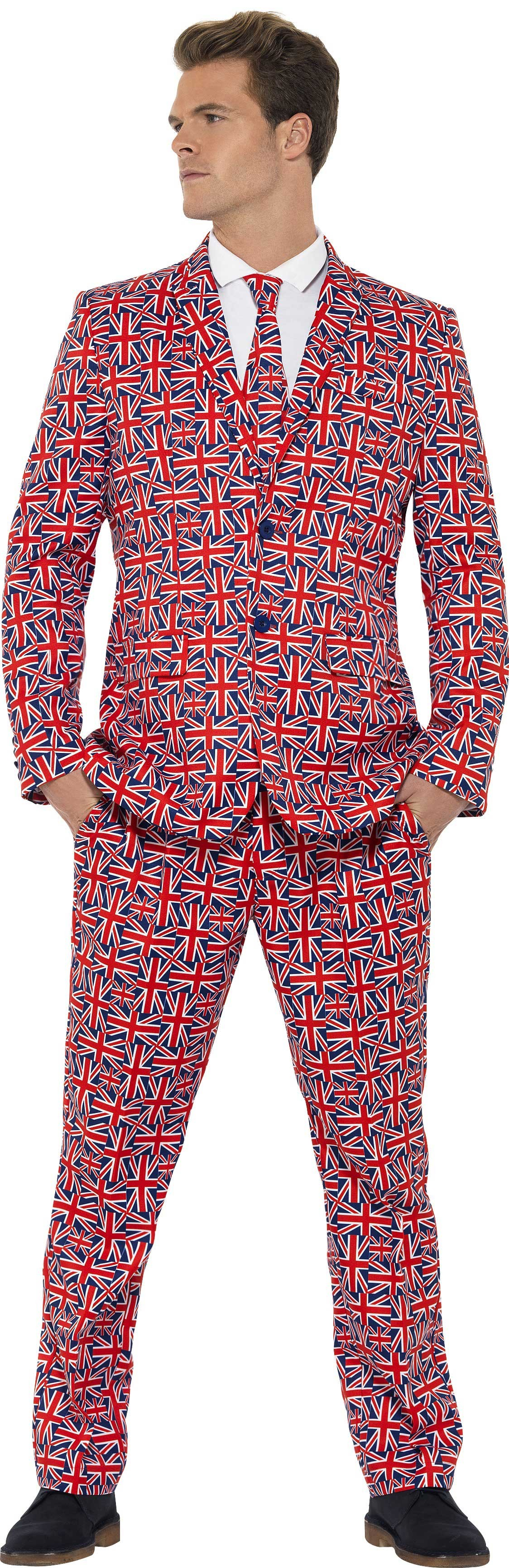 Men'S Union Jack Stand Out Suit Fancy Dress Costume