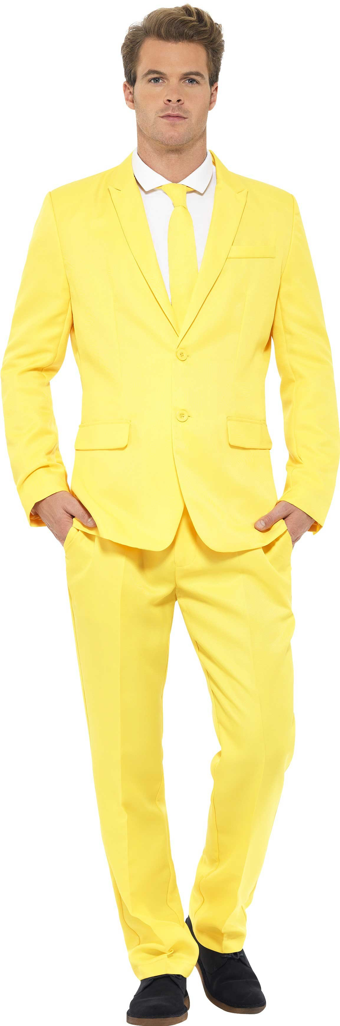 Men'S Yellow Stand Out Suit Fancy Dress Costume