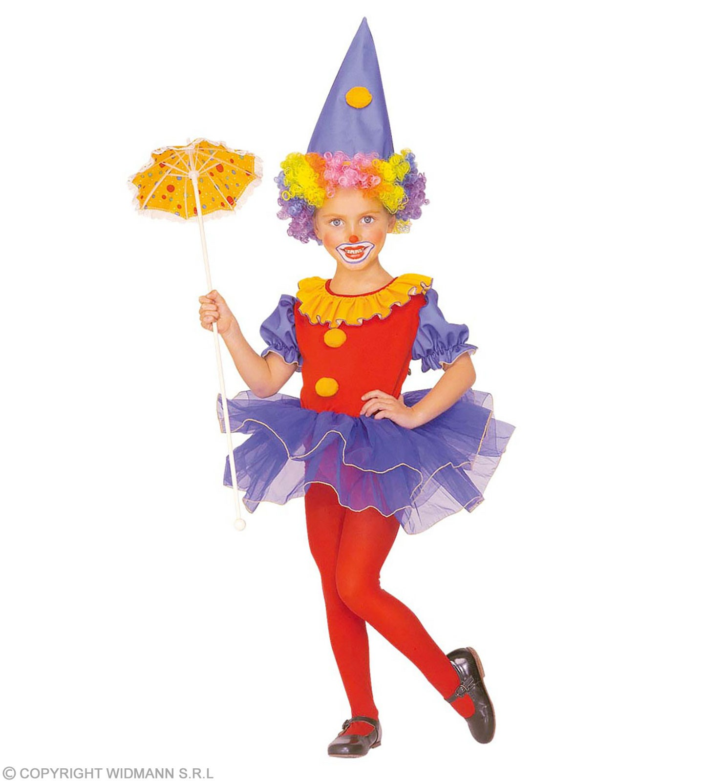 Ballerina Clown With Leotard With Tutu, Hat Fancy Dress (Clowns)