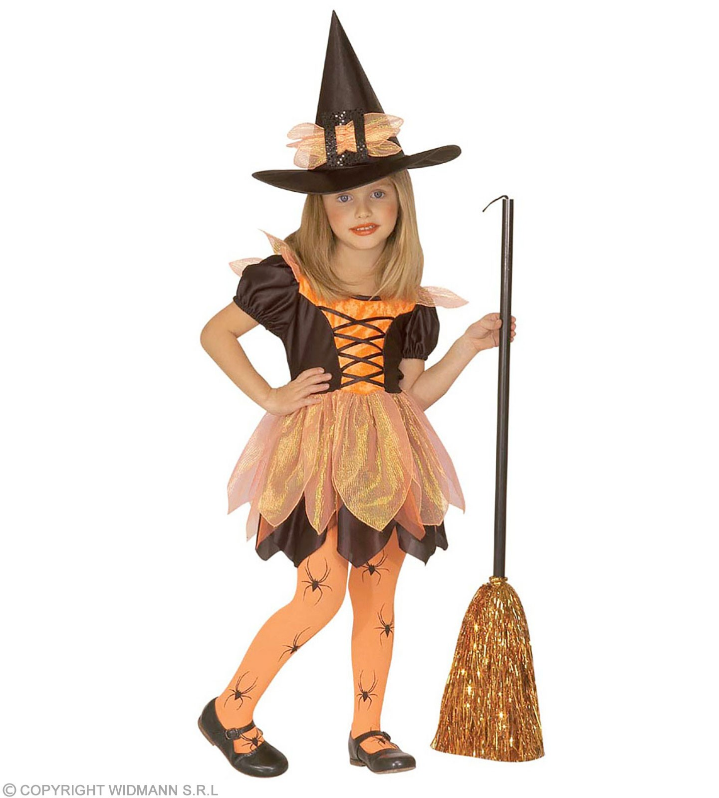 Pretty Witch With Dress, Hat With 110-116Cm Fancy Dress (Halloween)