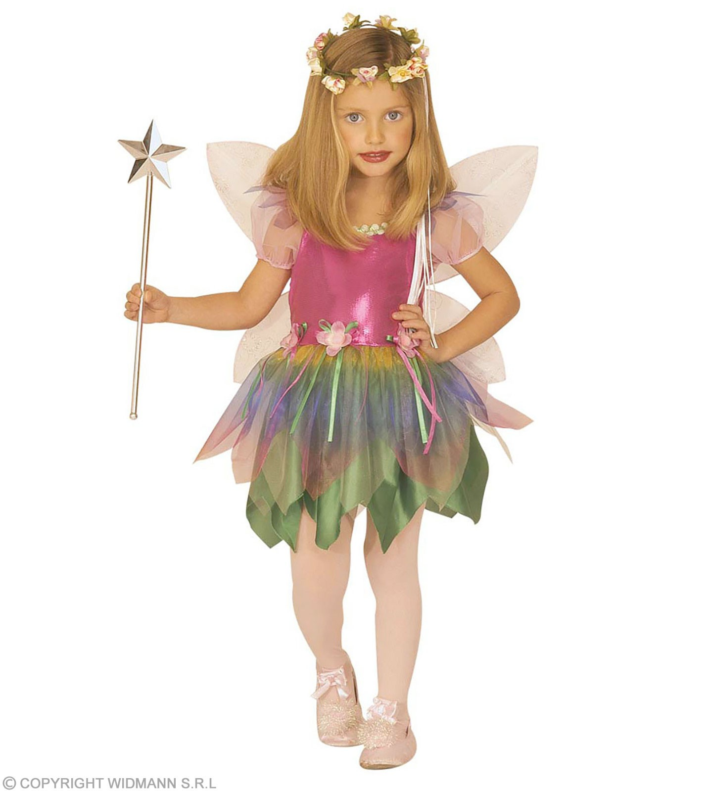 Rainbow Fairy & Dress, Wings Costume Age 4-5 Girls (Fairy Tales)