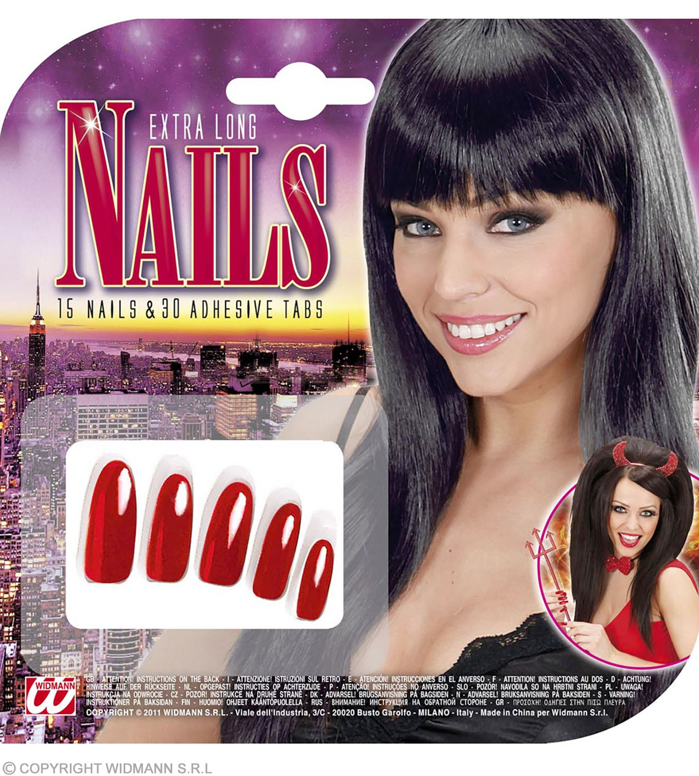 Nails Extra Long Red - Fancy Dress
