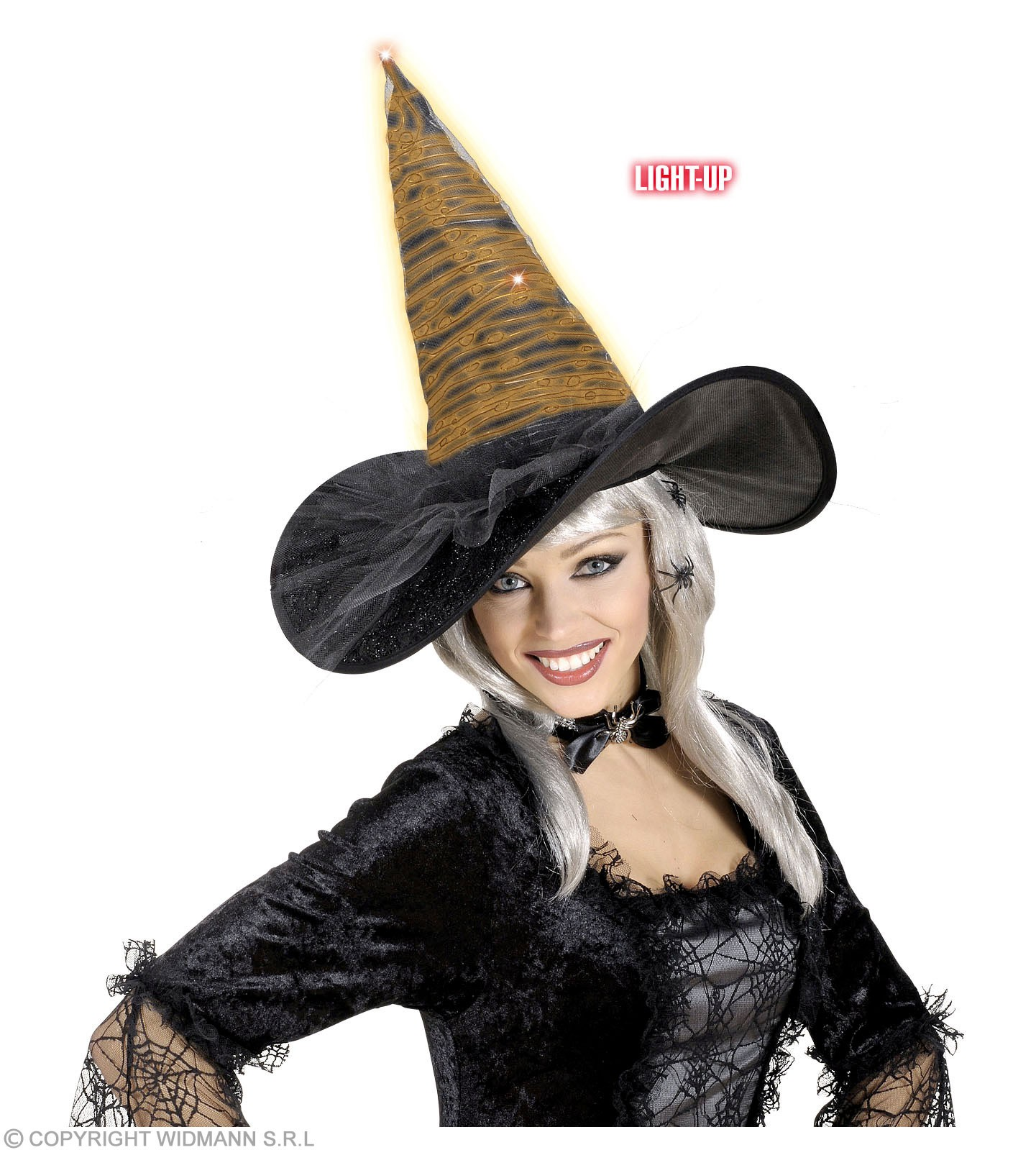 Witch Hat Fibreoptic - 5 Colors - Fancy Dress (Halloween)