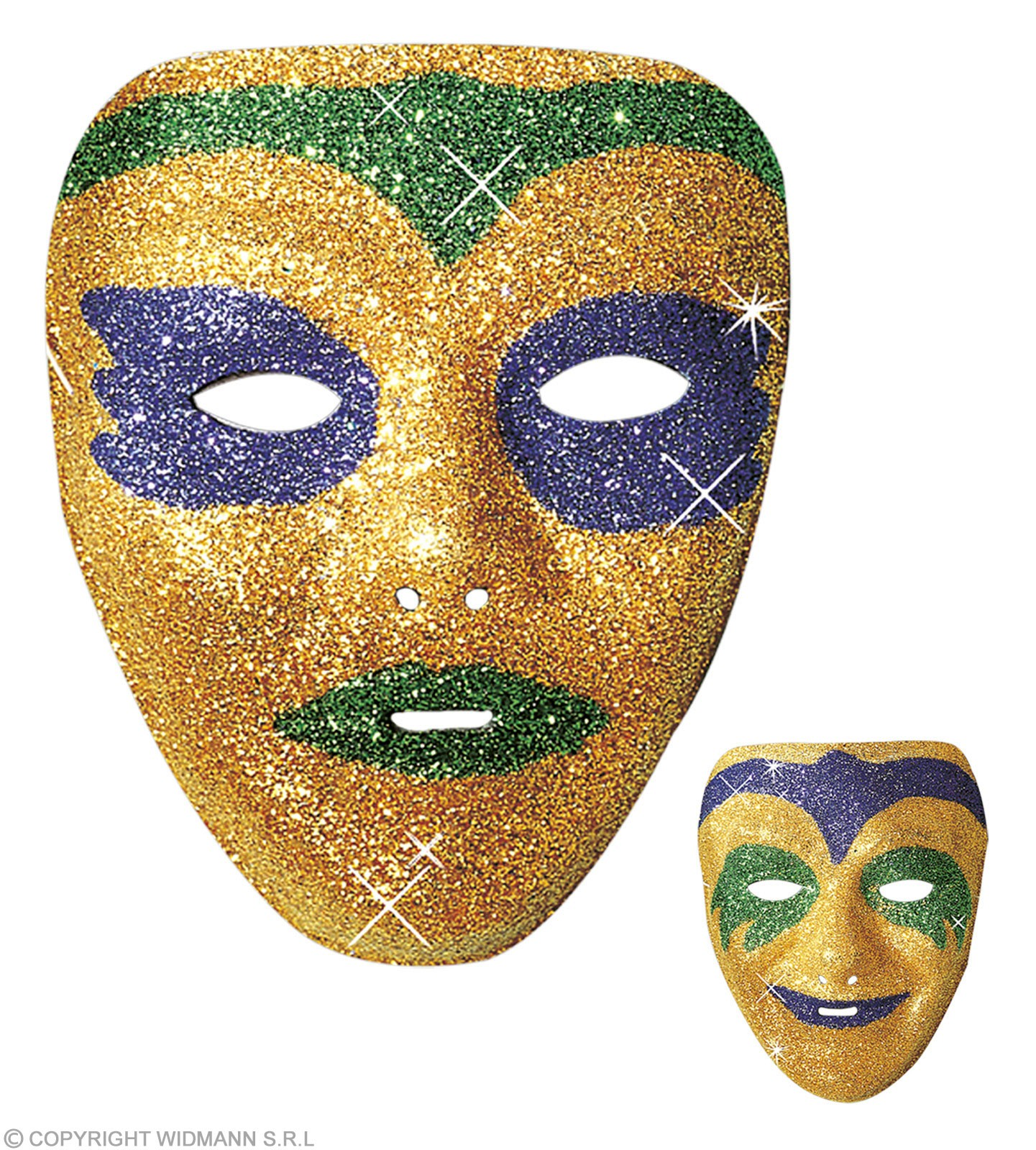 Plastic Glitter Masks-2 Styl.2 Cols.Asstd. Fancy Dress
