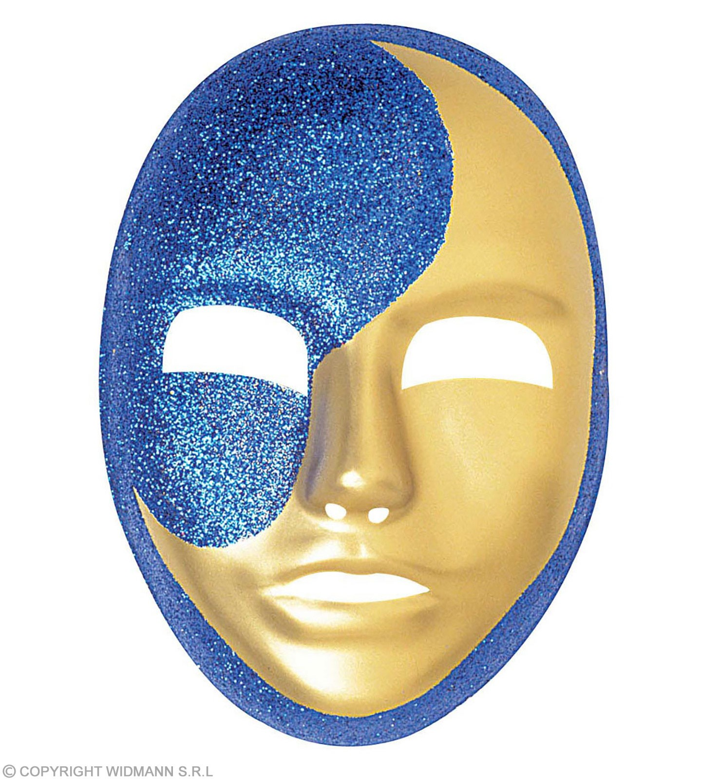 Plastic Glitter Moon Masks Fancy Dress