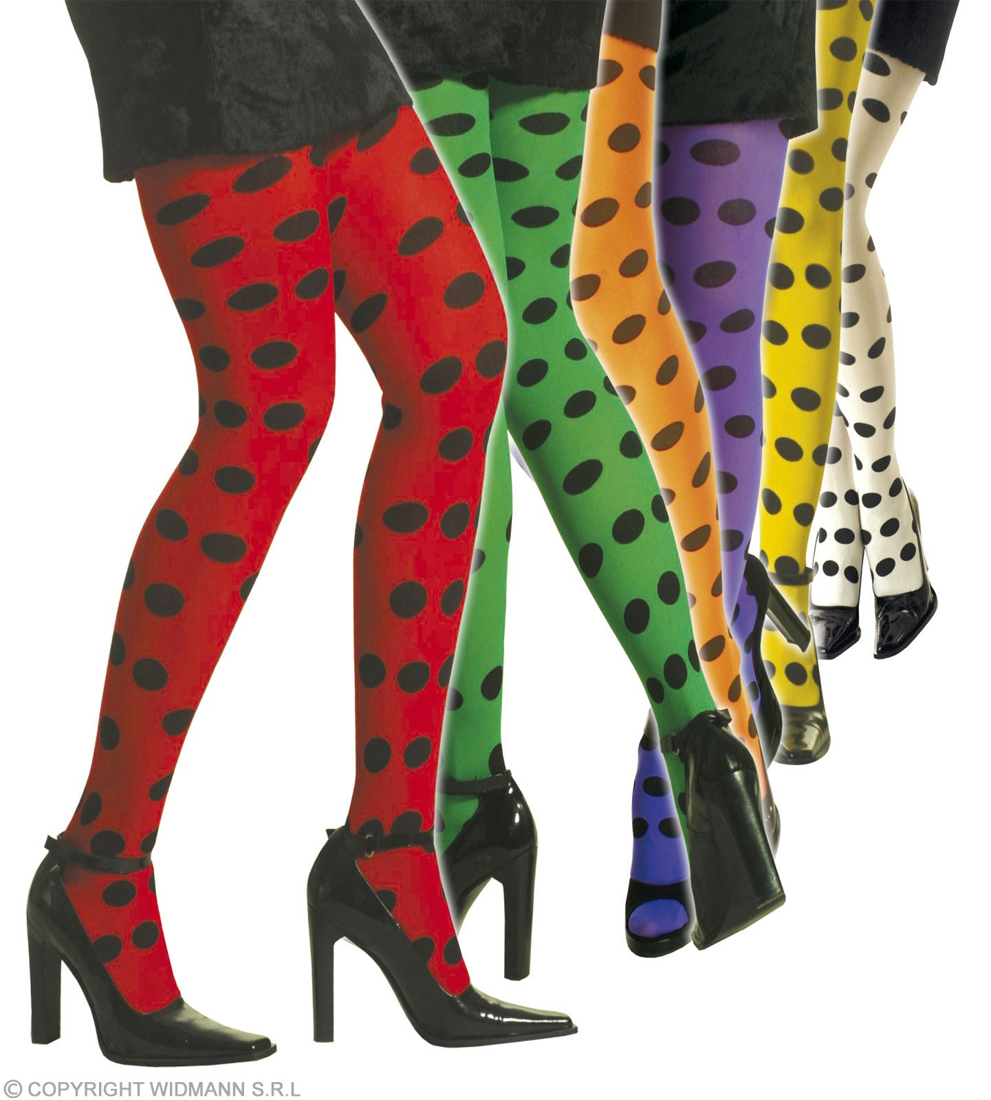 Neon Dotted Tights - Fancy Dress