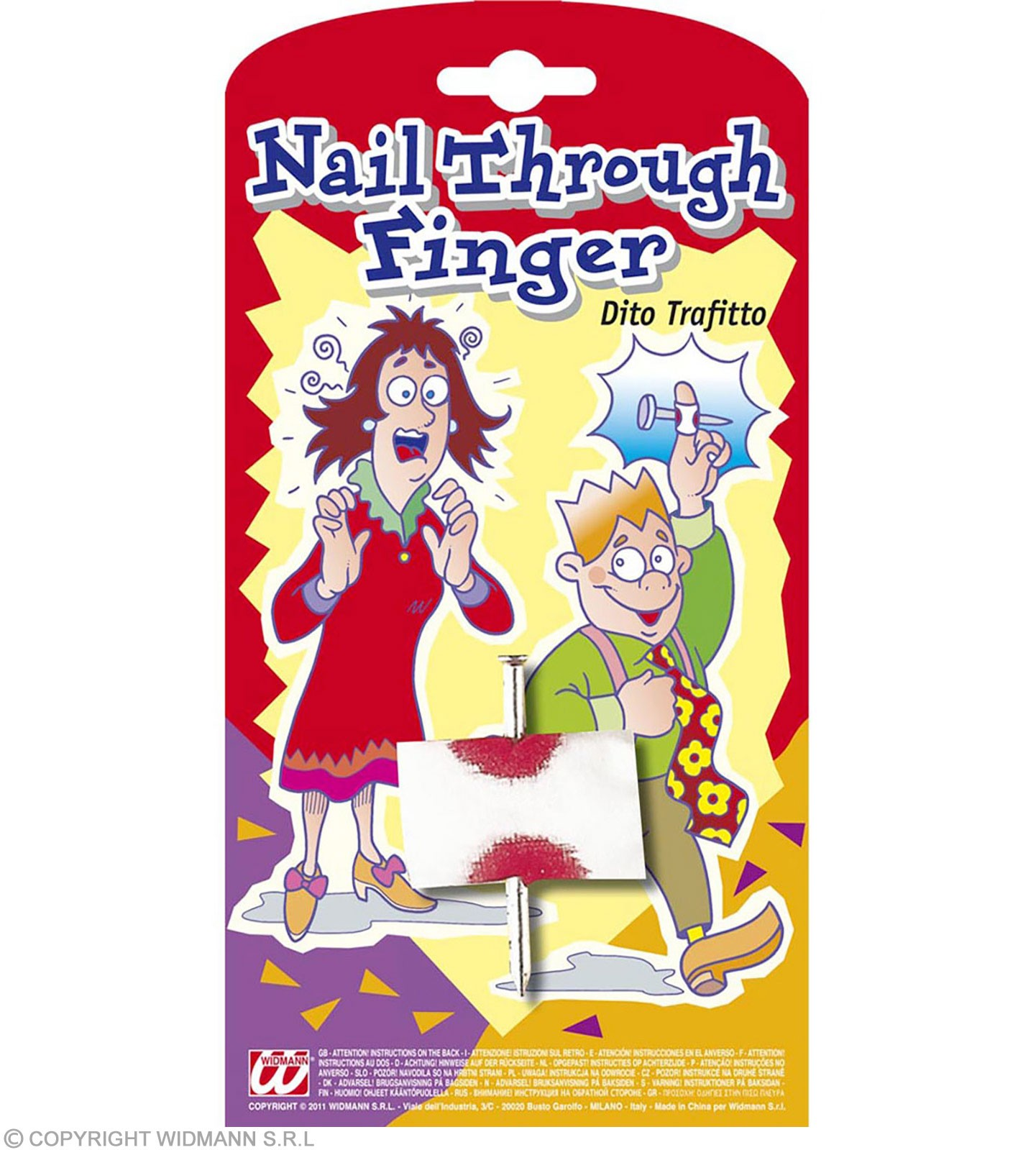 Joke Nail Through Finger - Fancy Dress