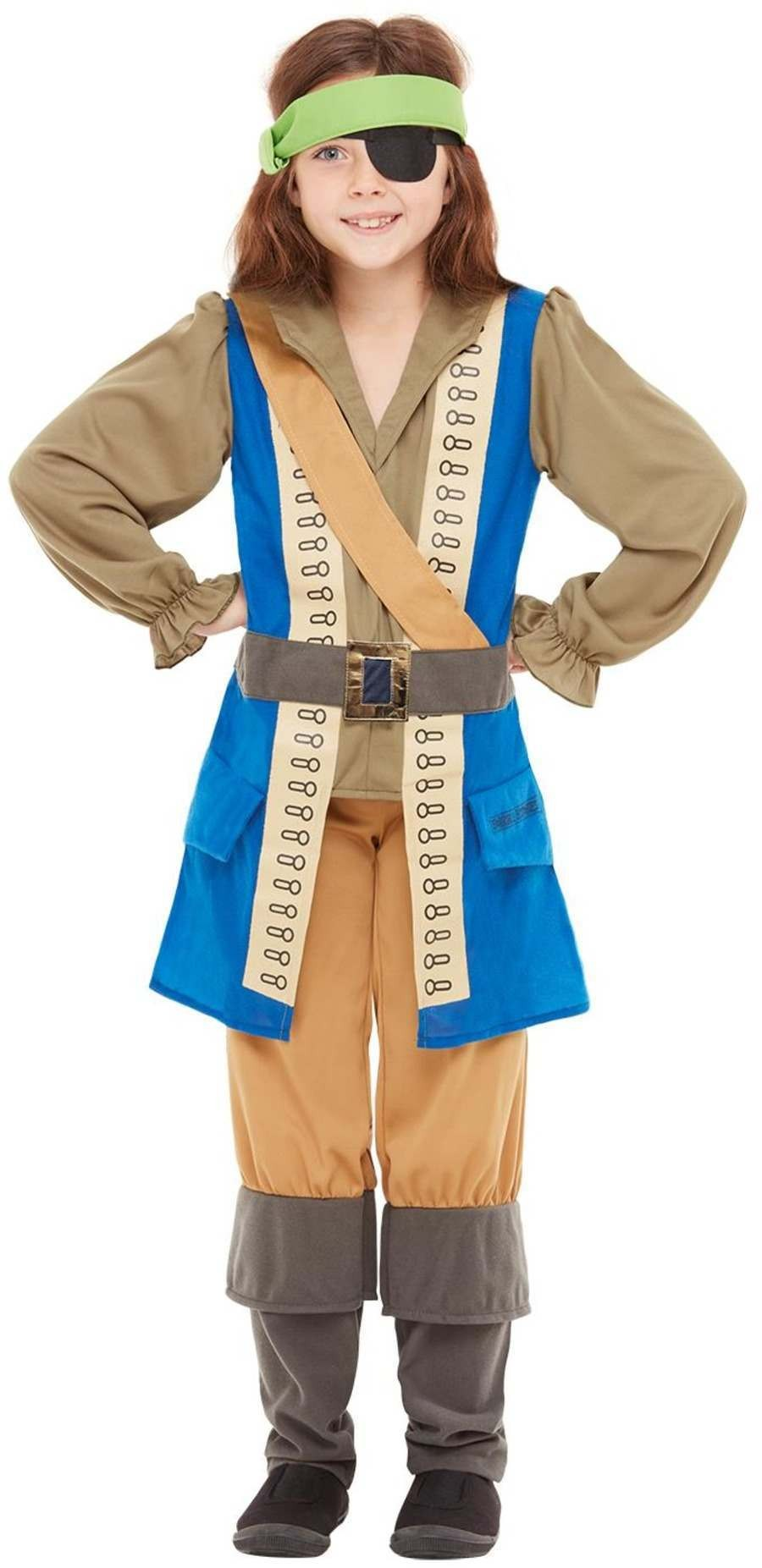 Horrible Histories Pirate Captain Fancy Dress Costume Book Day