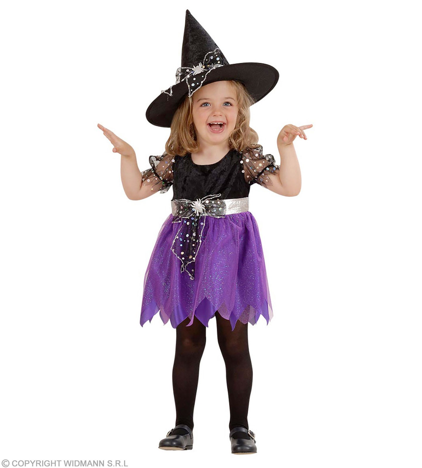 Lil' Witch With 98-104Cm With Dress - Hat Fancy Dress (Halloween)