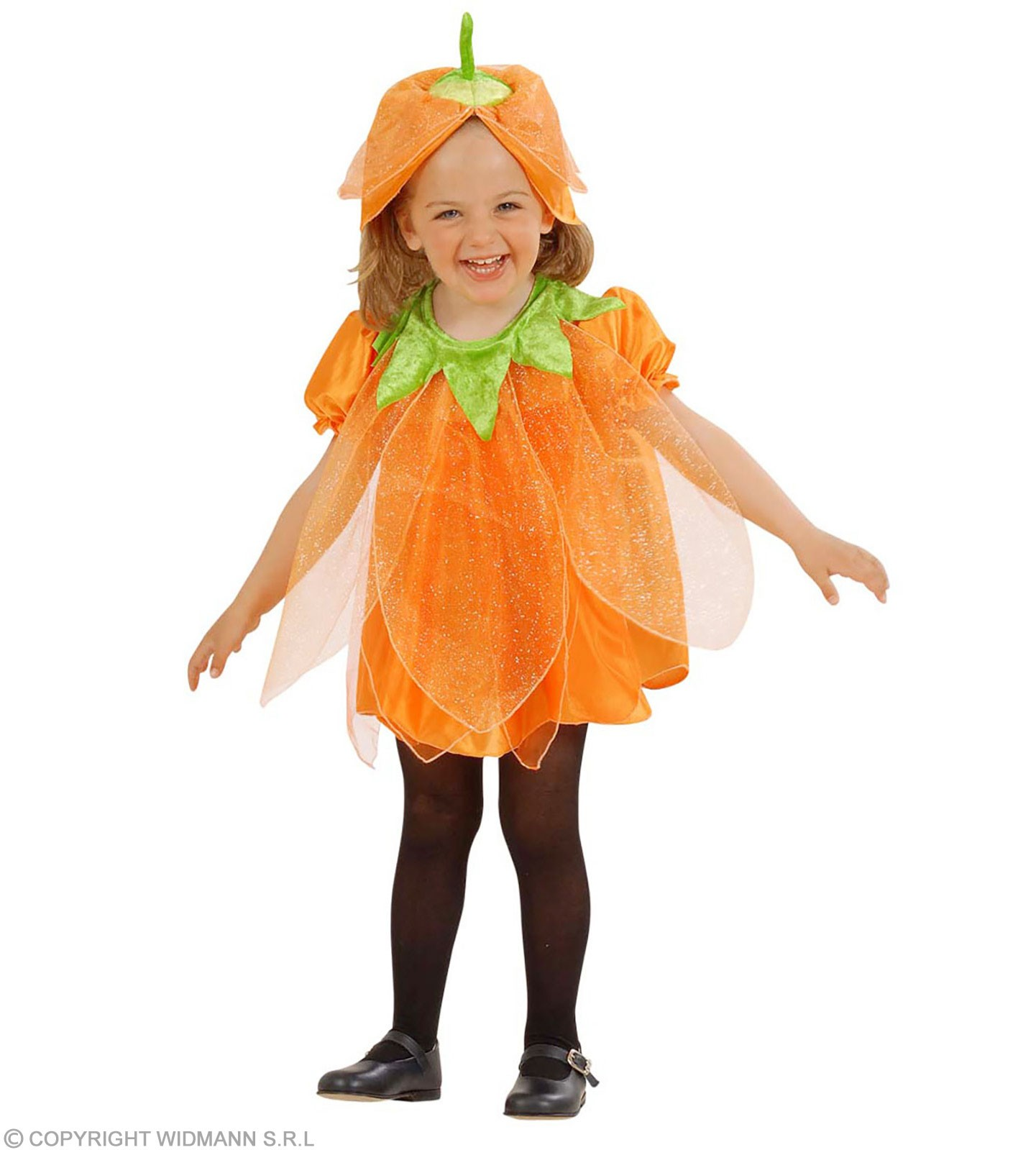 Lil' Pumpkin With Dress-Headpiece Fancy Dress Girls (Halloween)