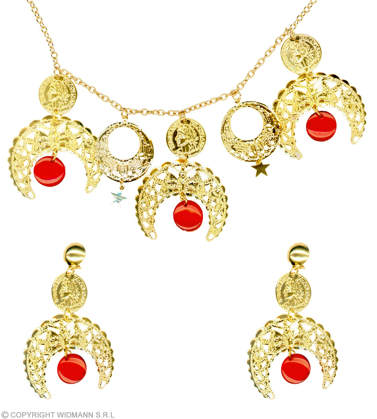 Gipsy Set Necklace / Earrings - Fancy Dress Sanc5012C