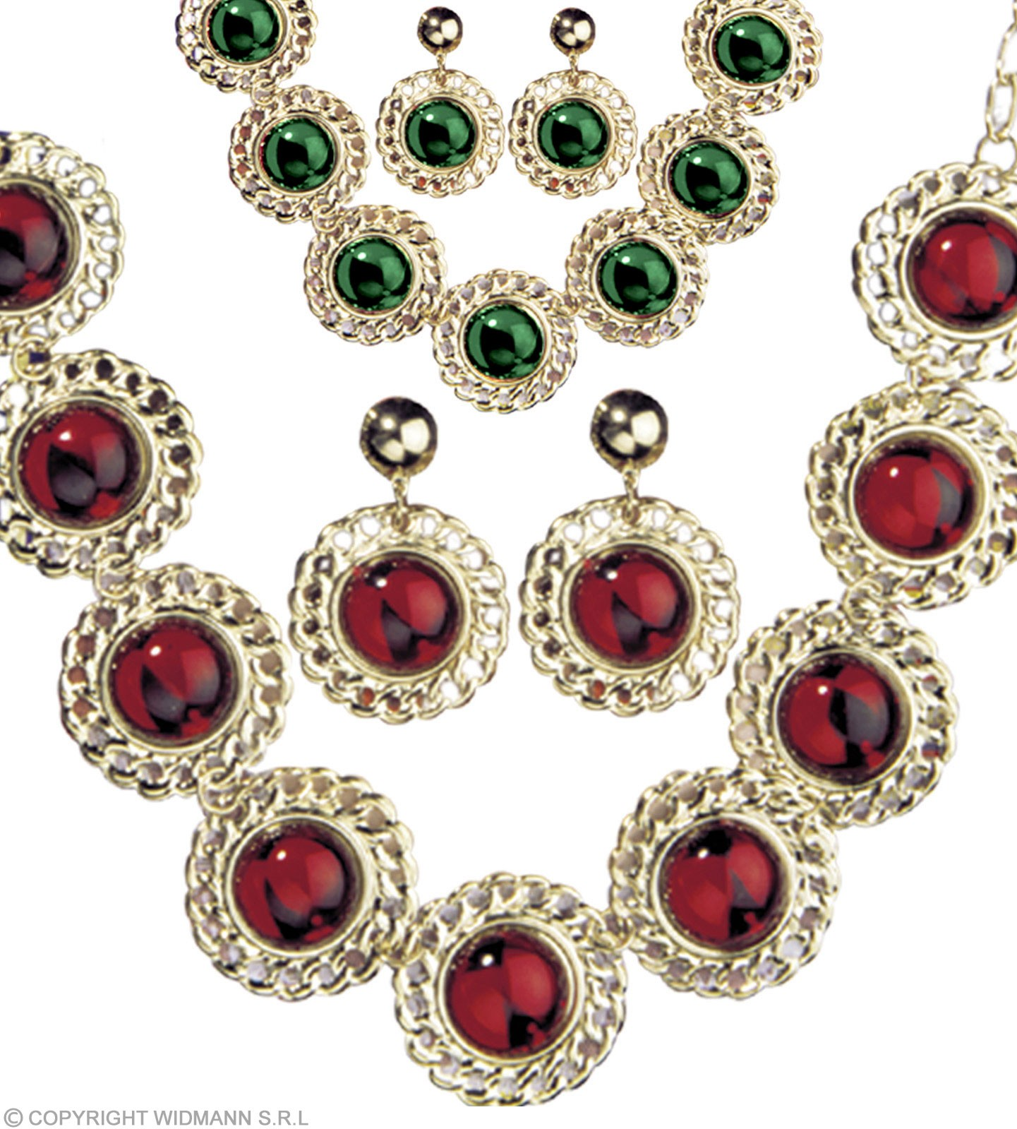 Medieval Queen Set Necklace/Earrings - Fancy Dress (Royalty)