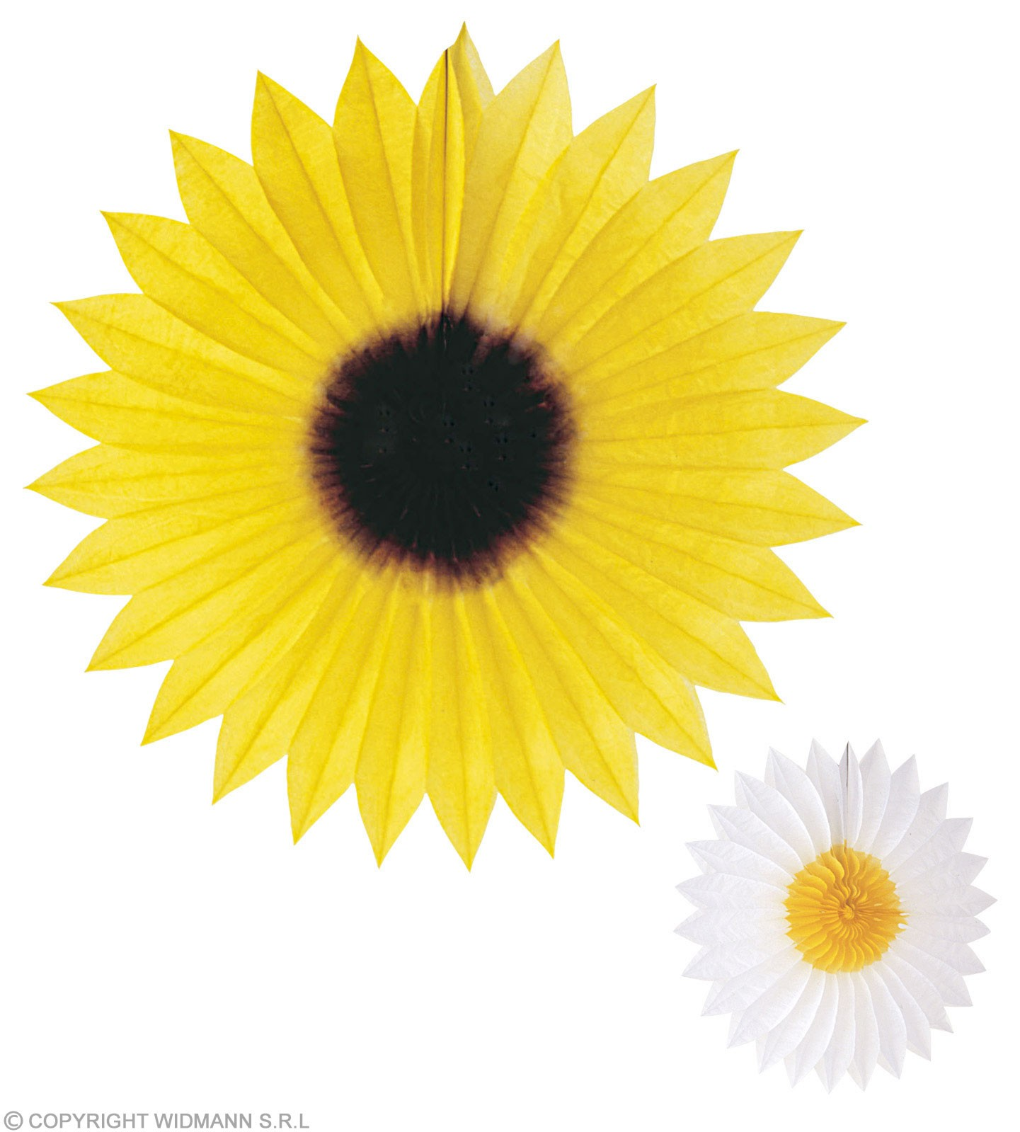 Paper Fan Daisy Sunflower 50Cm - Fancy Dress
