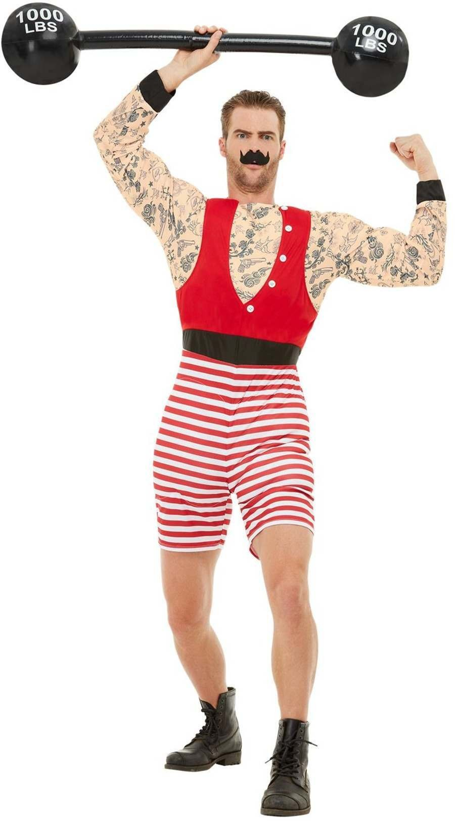 Deluxe Strongman Fancy Dress Costume Circus Halloween