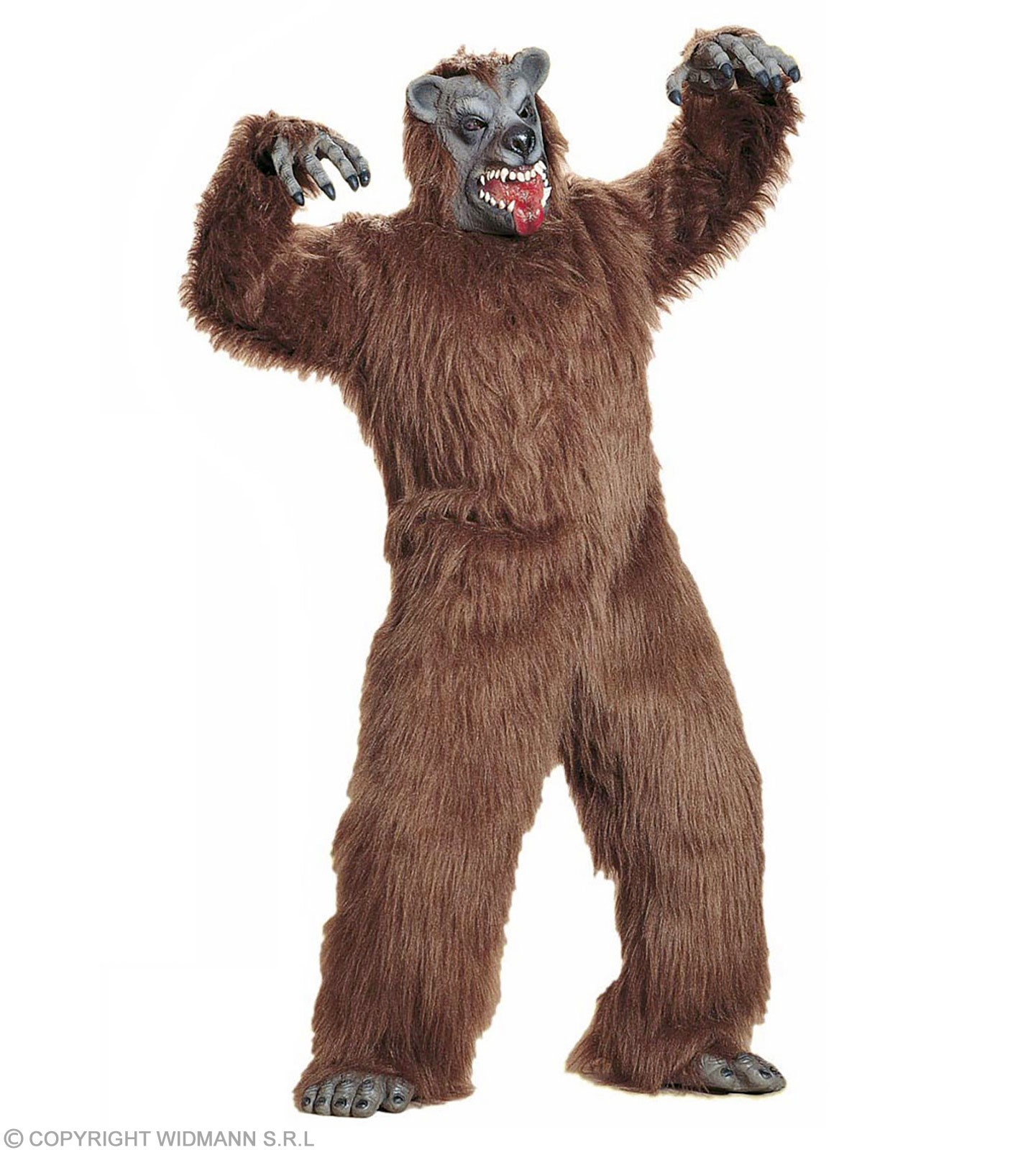 Brown Bear Plush Adult Fancy Dress Costume (Animals)