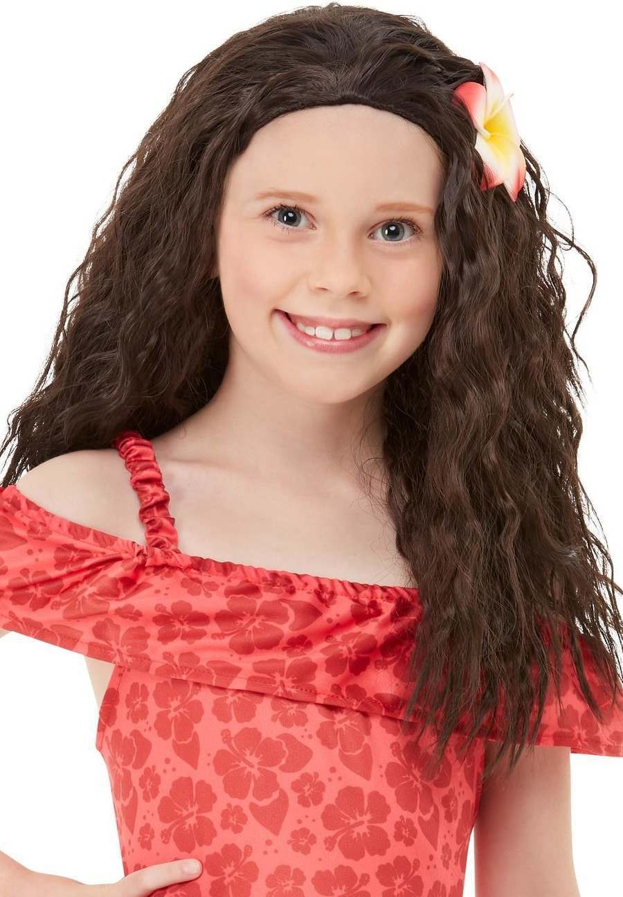Girls Hawaiian Princess Wig Fancy Dress