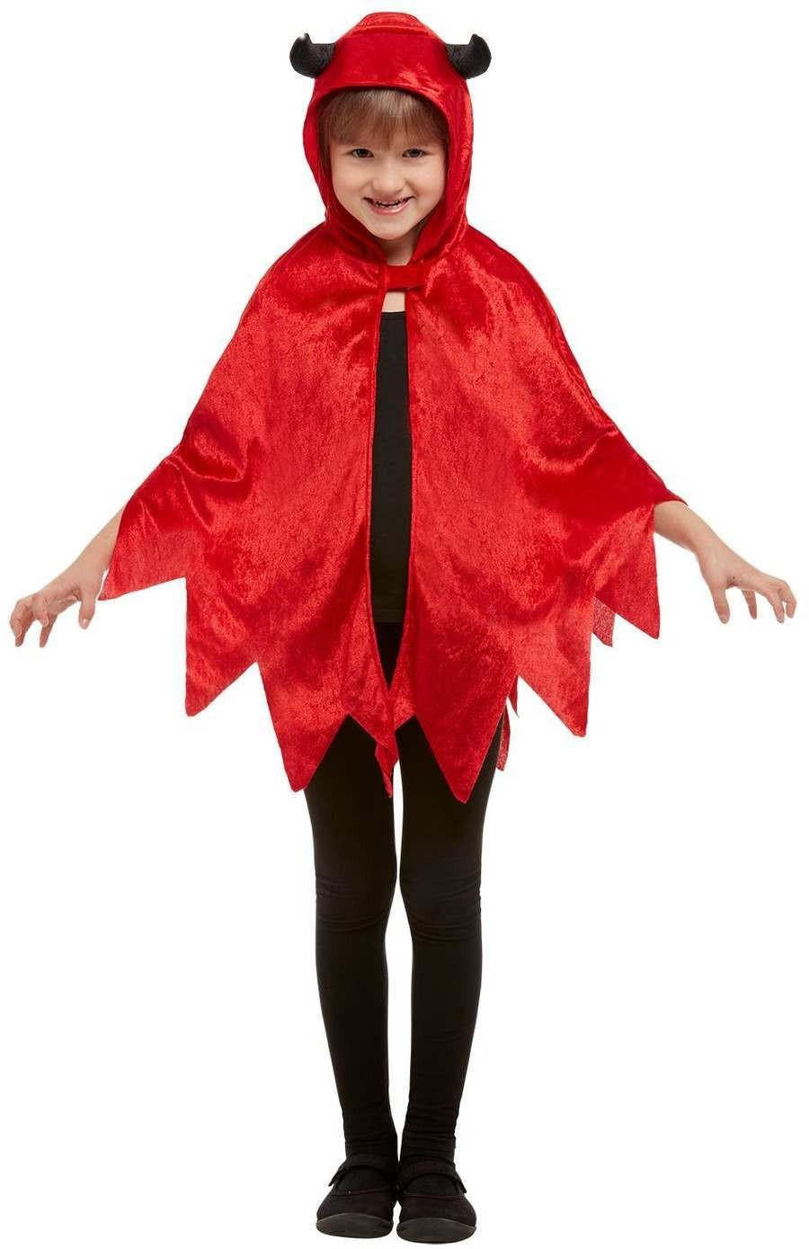 Devil Hooded Cape Halloween Fancy dress